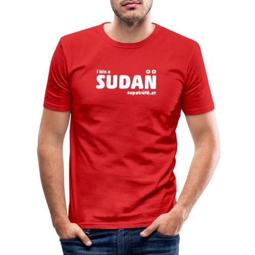 supatrüfö SUDAN - Männer Slim Fit T-Shirt