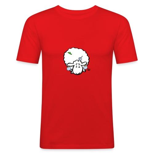 Joulukuusi lammas - Miesten tyköistuva t-paita