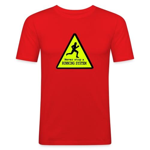 Never stop running - Männer Slim Fit T-Shirt