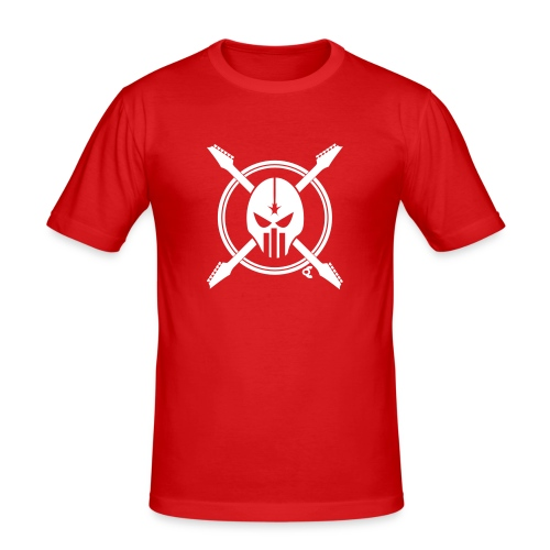 tete de mort guitare - T-shirt près du corps Homme