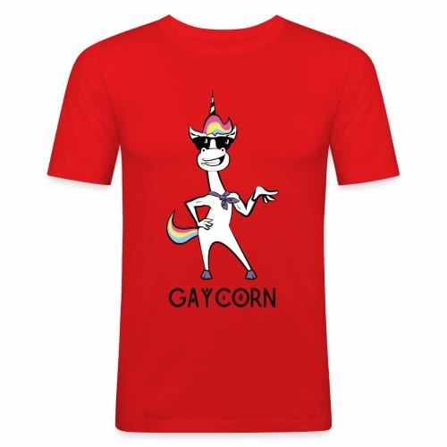 Gaycorn - Männer Slim Fit T-Shirt