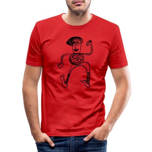 Super Pino - Maglietta aderente da uomo