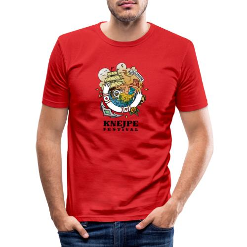 Knejpe Festival - tattoo med sort tekst - Herre Slim Fit T-Shirt