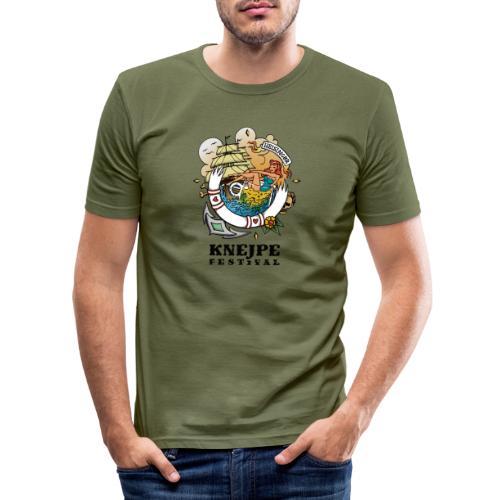 Knejpe Festival - tattoo med sort tekst - Herre Slim Fit T-Shirt