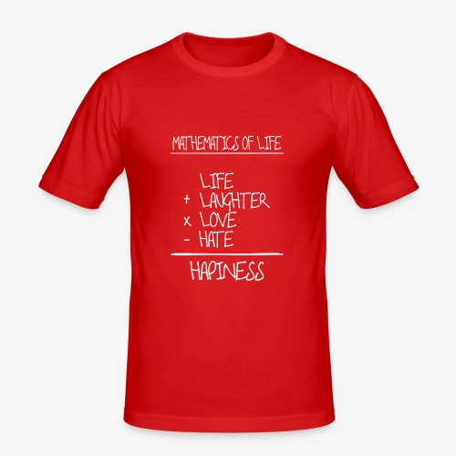 Mathematics of life - Männer Slim Fit T-Shirt