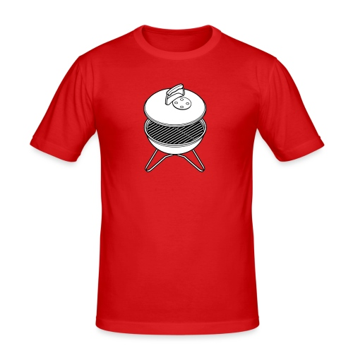 bbq2 - slim fit T-shirt