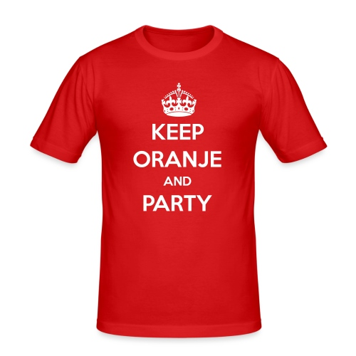 KEEP ORANJE AND PARTY - slim fit T-shirt