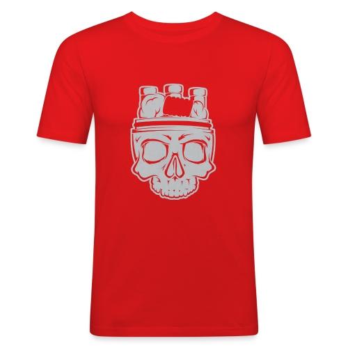 VAPE SKULL - Obcisła koszulka męska