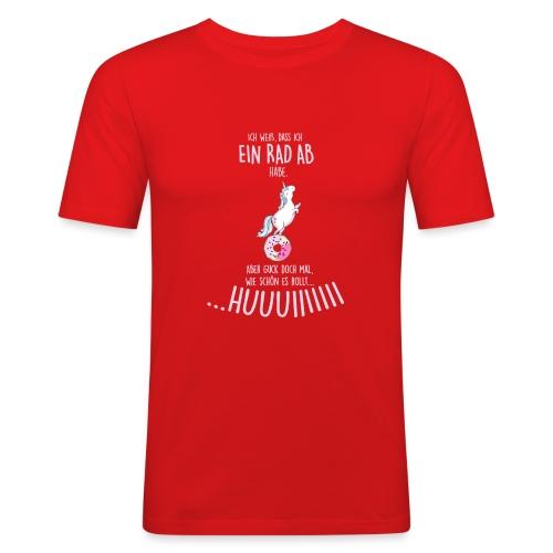 Vorschau: rad ab_einhorn - Männer Slim Fit T-Shirt