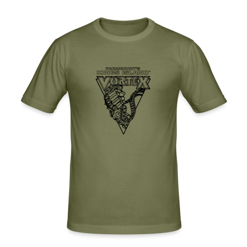 Vortex 1987 2019 Kings Island - Miesten tyköistuva t-paita