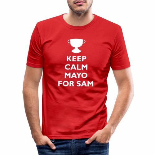 Keep Calm Mayo For Sam_ - Men's Slim Fit T-Shirt