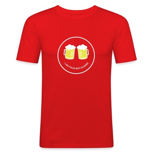 Bier Smiley – Oktoberfest – Bierzelt – Aprèski - Männer Slim Fit T-Shirt