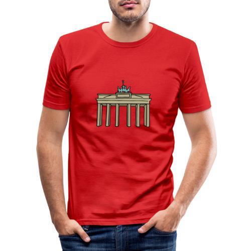 Porta di Brandeburgo a BERLINO c - Maglietta aderente da uomo