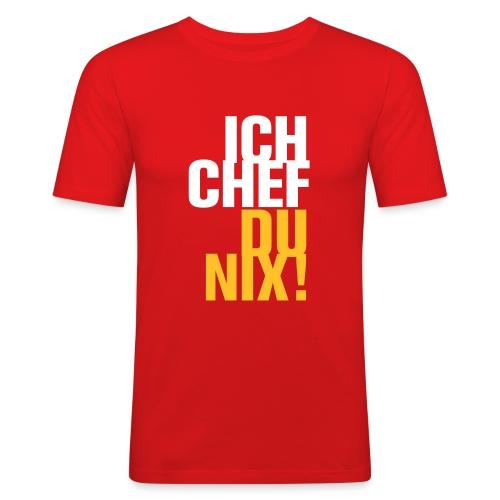 Ich Chef Du nix! Like a Boss Vorgesetzter Leitwolf - Men's Slim Fit T-Shirt