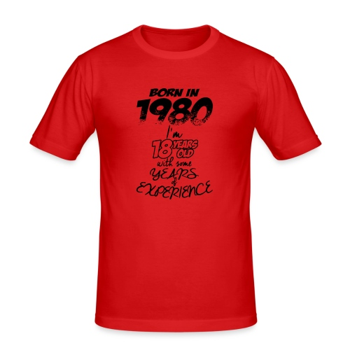 born In1980 - Men's Slim Fit T-Shirt