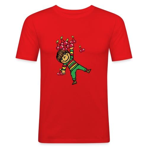08 kinder kapuzenpullover hinten - Männer Slim Fit T-Shirt