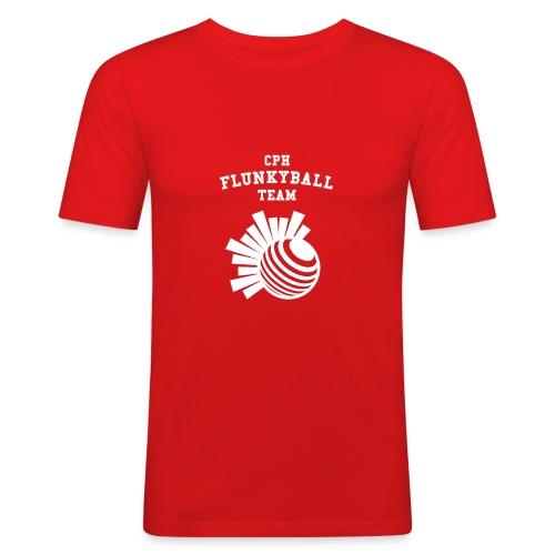 flunkyballHvid - Herre Slim Fit T-Shirt