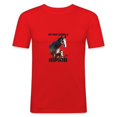 Kipinän selkäpainatus - Miesten tyköistuva t-paita