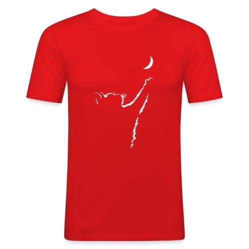 Vorschau: cat moon - Männer Slim Fit T-Shirt
