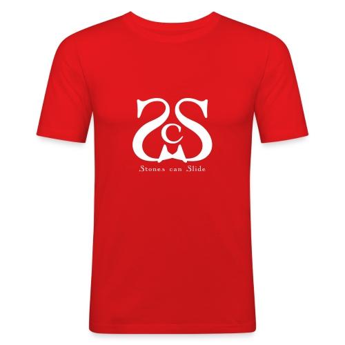 scs_vektorlogo_white_10x10cm - Men's Slim Fit T-Shirt