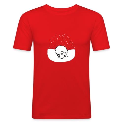 Schneebedeckte Schafe - Männer Slim Fit T-Shirt