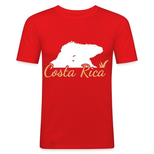 Echse CostaRica Green SVG - Männer Slim Fit T-Shirt