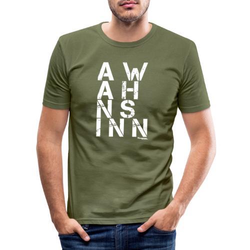 HazyShirt03awahnsinninv - Männer Slim Fit T-Shirt
