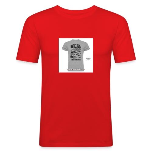 camiseta-tengo-una-hija-preciosa - Camiseta ajustada hombre