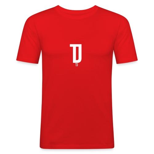 TJ_white_ - Männer Slim Fit T-Shirt