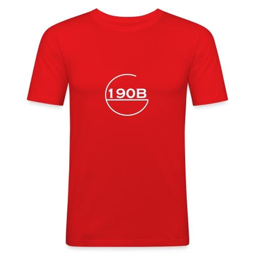 190B G hoop white - Mannen slim fit T-shirt