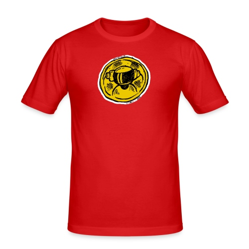 Machine Boy Ruff Yellow - Men's Slim Fit T-Shirt