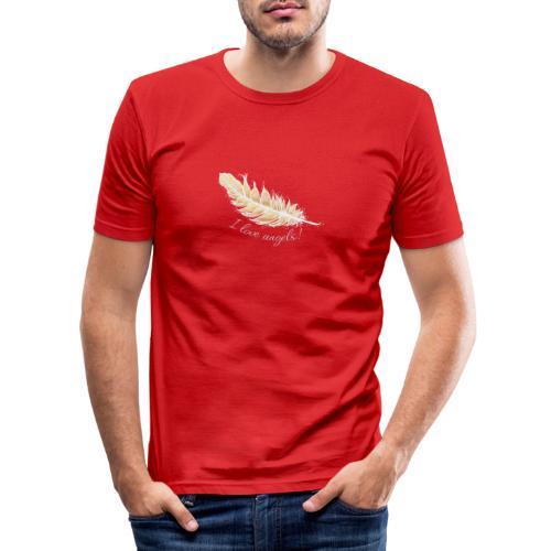 EngelFeder Love - Männer Slim Fit T-Shirt