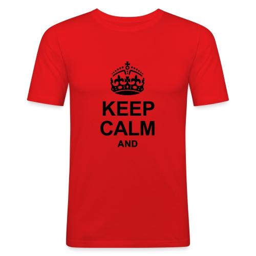 KEEP CALM - Men's Slim Fit T-Shirt