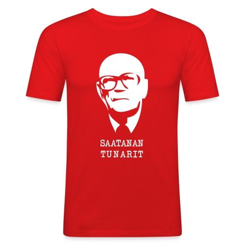 Kekkonen saatanan tunarit - Miesten tyköistuva t-paita