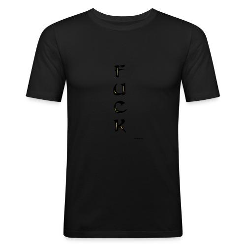 Fuck - Miesten tyköistuva t-paita