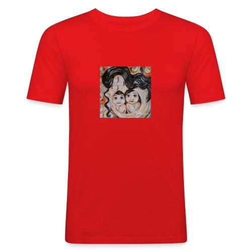 camiseta mujer mama e hijo - Camiseta ajustada hombre