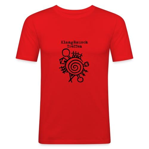 KlangRauschTreffen Logo mit Schrift - Männer Slim Fit T-Shirt