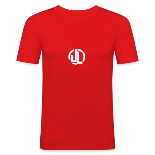 The White JL Logo - Men's Slim Fit T-Shirt