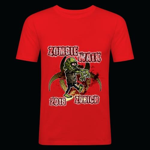 shirt zombie walk3 - Männer Slim Fit T-Shirt