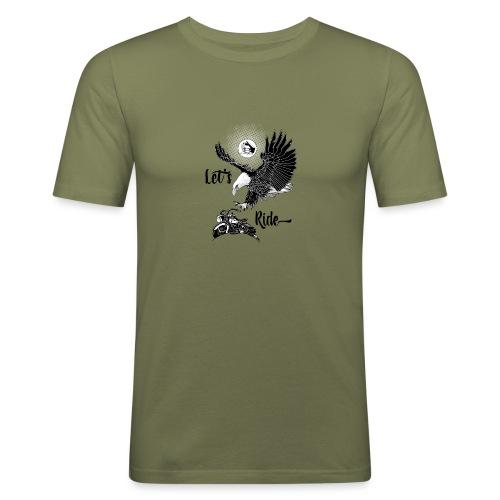 Baldeagle met een panhead - Mannen slim fit T-shirt