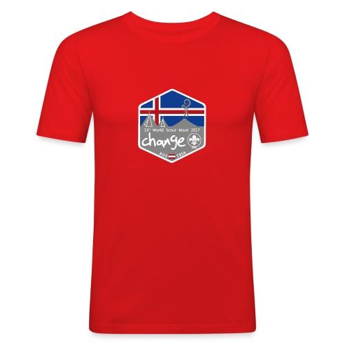 MootIsland Abzeichen - Männer Slim Fit T-Shirt