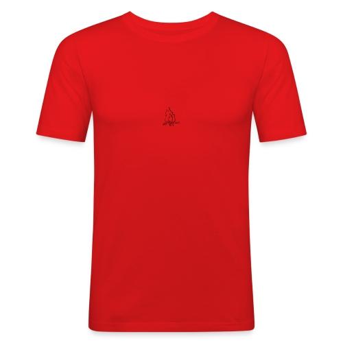 Fire bw - Maglietta aderente da uomo
