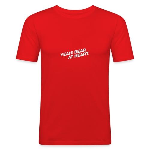 Yeah Bear at Heart #2 - Männer Slim Fit T-Shirt
