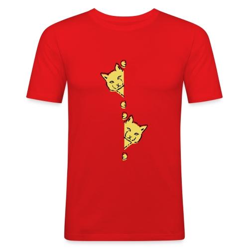 Två gula katter - Slim Fit T-shirt herr