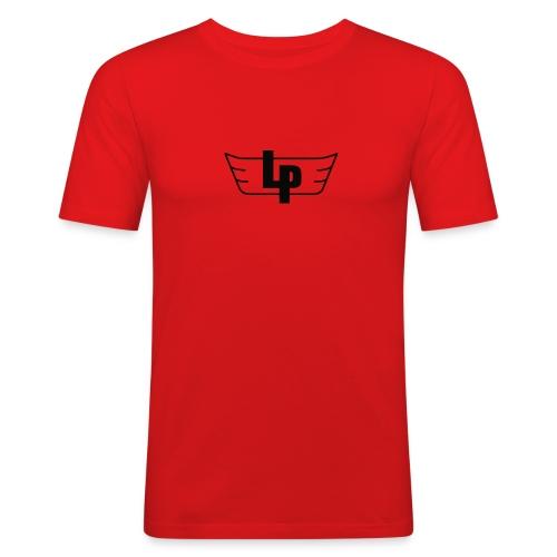 lp black outline - Men's Slim Fit T-Shirt