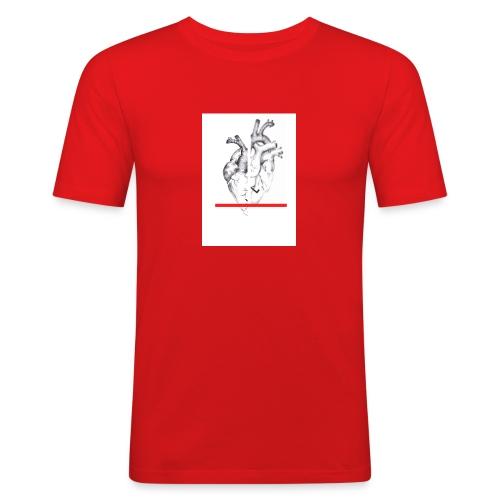 Le coeur flou et sa barre - T-shirt près du corps Homme