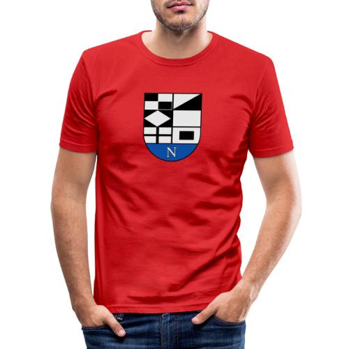 652px Coat of arms of Neringa Lithuania svg - Männer Slim Fit T-Shirt