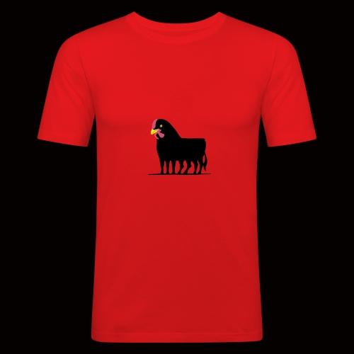 Huhnerstier T-Shirt - Männer Slim Fit T-Shirt