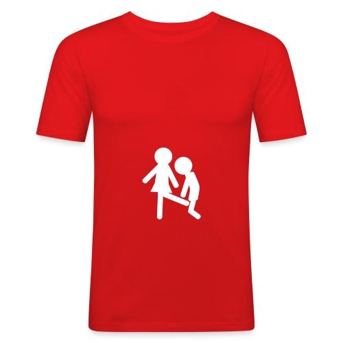 Penalty kick - Herre Slim Fit T-Shirt