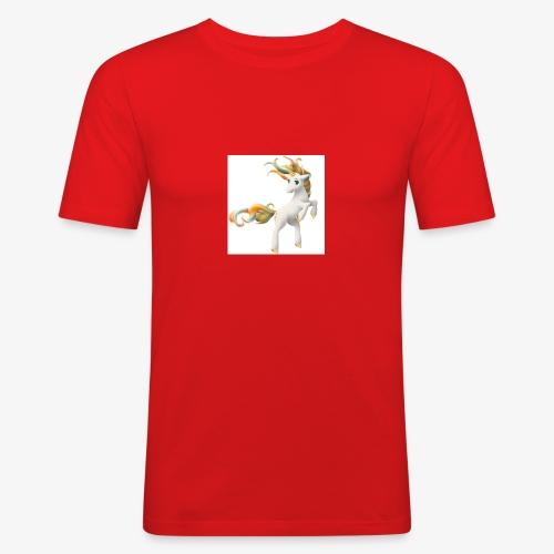 Love Unicorn - Männer Slim Fit T-Shirt